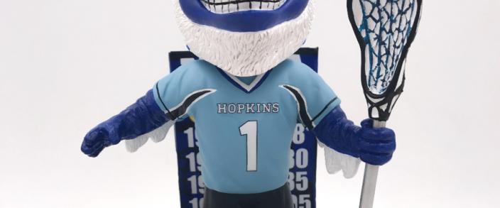 new concept c9e31 ed5ea Johns Hopkins' Championship History Honored with Bobblehead