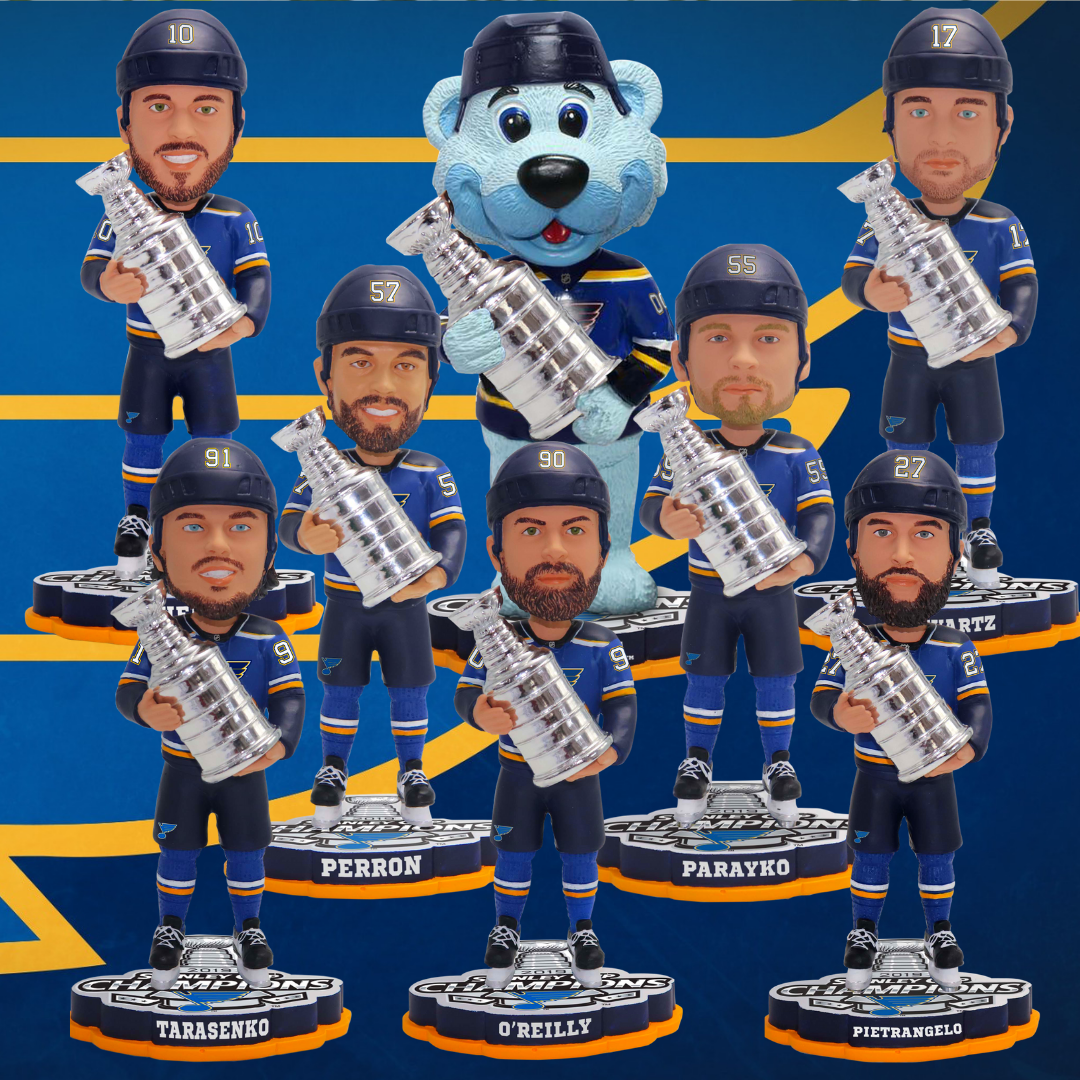 St  Louis Blues Stanley Cup Champs Bobbleheads Now Available