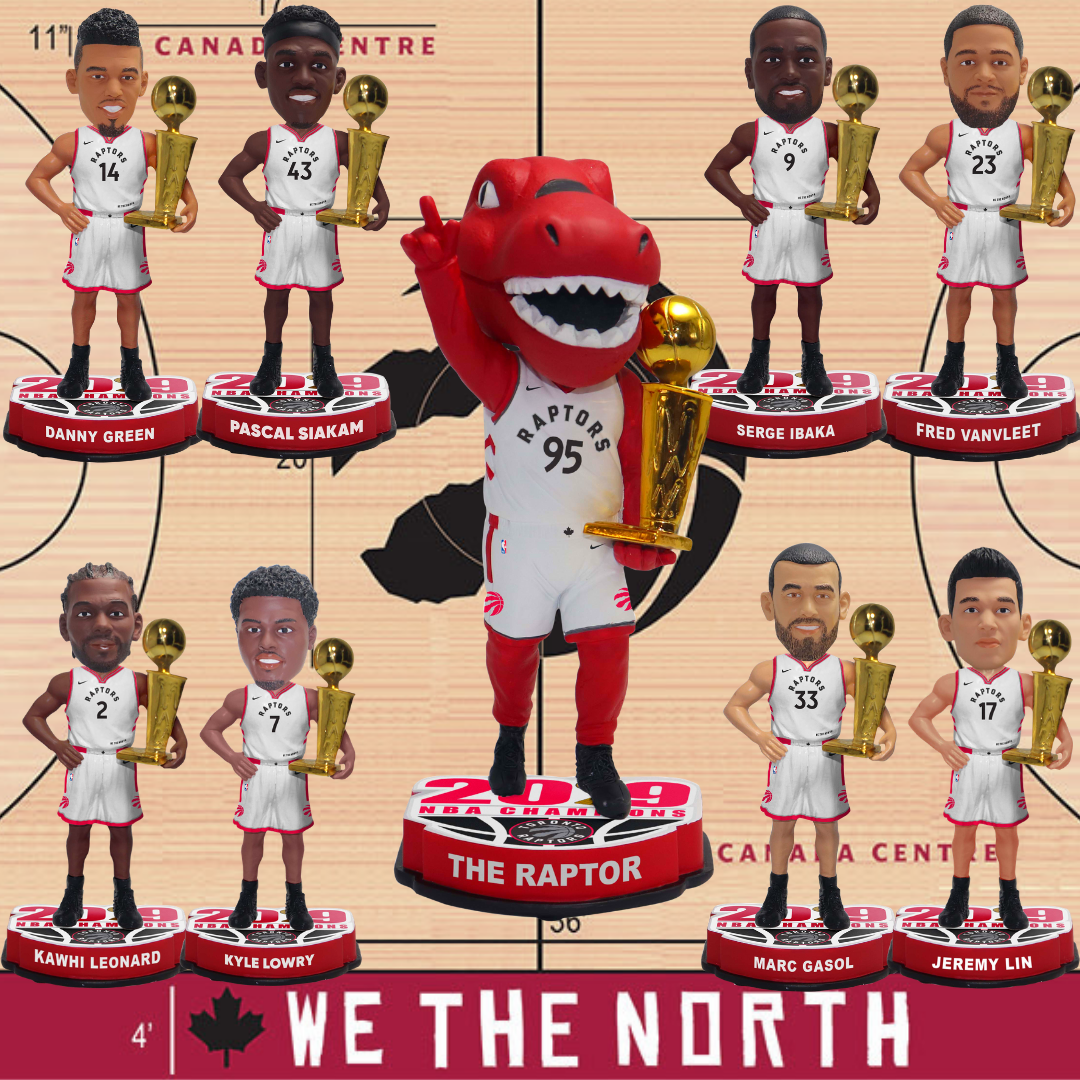 988b1103100 Toronto Raptors 2019 NBA Champions Bobbleheads Now Available for Pre-order